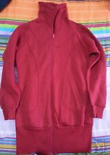 Lotto 318 cardican lungo donna maglia abito vestitino TG.S rosso