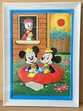 Vintage Mickey Minnie Mouse Walt Disney Plastic 3D Relief Picture New Ice Creams