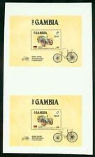 Gambia 1986 Benz Automobile SS PROOF PAIR