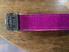 Pink Tweed large dog collar