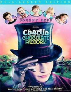 Charlie and the Chocolate Factory (DVD, 2005, Full Screen) NEW