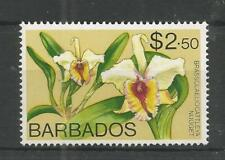 BARBADOS 1974 $2.50 ORCHIDS HIGH VALUE SG,498 UM/M NH LOT 7797A