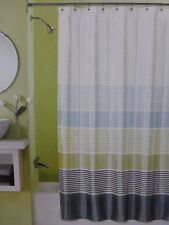 "Peri Home Simon Stripe Fabric Shower Curtain 70"" x 72"" NIP"