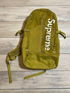 Supreme SS17 Acid Green Backpack Used