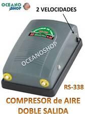 COMPRESOR AIRE 2x3,5l/min ACUARIO 2 SALIDAS 2 VELOCIDADES OXIGENADOR AIREADOR