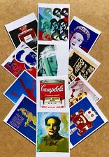 New Set of 20 Andy Wharhol pop art images reprinted as quality postcards