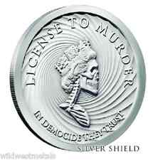 1OZ Slave Queen # 3 of Series Silver Shield - Democide/ License to Murder *Rare*