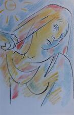COCTEAU Jean :  La sainte Vierge  - LITHOGRAPHIE Originale #1967 #MOURLOT
