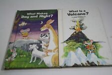What Is A Volcano & What Makes Day And Night Just Ask Book lot 2 Weekly Reader