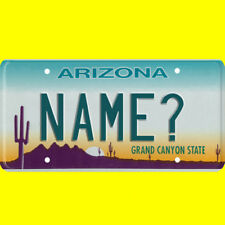 1/43-1/5 scale custom license plate set any brand RC/model car - Arizona tags