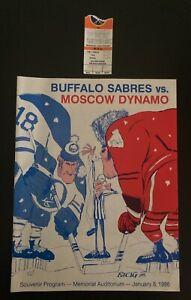 1986 Buffalo Sabres vs. Soviet Mosco Dynamo Hockey Program & Ticket Stub