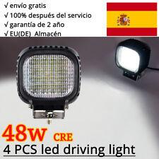 4X 4INCH 48W LED CREE Faros de trabajo camiòn Làmpara conducción Offroad 12V 24V