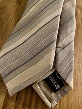 Armani Collezioni Silk Linen Stripe Tie RRP £215