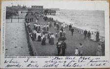 1908 Postcard: Boardwalk, Holland Station - Rockaway, New York City, NY