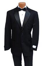 44L 40 Waist New Classic Black Tuxedo Jacket & Pant Suit Wedding Formal Tux