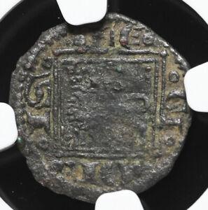 SPAIN. Alfonso X, Billon Obol, 1252-1284, NGC VF30