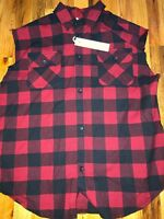 Fear Of God Sleeveless Flannel *RARE* Second Collection Size Meduim!