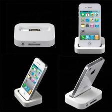 IPhone 4S 4 dock de chargement station d'accueil bureau support berceau blanc uk