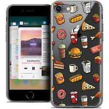 """Coque Crystal Gel Pour iPhone 8 (4.7"""") Extra Fine Souple Foodie Fast Food"""