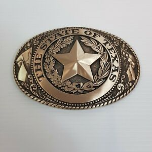STATE OF TEXAS Tony Lama State Series Collection Solid Brass Belt Buckle NEW