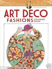 Art Deco Fashions Adult Colouring Book Creative Art Therapy Relaxing Anti Stress