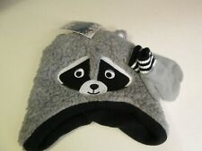 Boy's Gray Critter Hat and Mitten Set, NWT
