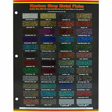 Custom Shop Metal Flake CHIP COLOR CHART Auto Car Paint Gun Custom Shop HOK