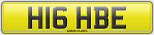 H16 HBE NUMBER PLATE BE HIGH GET HIGH STONER SMOKER TOKER WEED LEGAL UK FUN REG