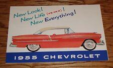 1955 Chevrolet Full Line Foldout Sales Brochure 55 Chevy Bel Air