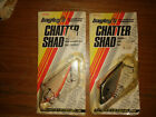 """Bagley's Chatter Shad (2) Lures - Bone and Tennessee Shad Colors - 3"""" NOS"""