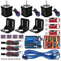 3D Printer CNC Controller Kit Fit Arduino GRBL Shield +Stepper Motor Driver V3.0