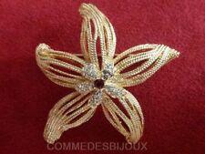 "Broche ""Etoile de Mer"" filigrane dorée Anémone Epanouie - Bijoux pur Bestaire"