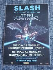 SLASH - GUNS N ROSES - AUSTRALIA TOUR 2015 - LAMINATED PROMO POSTER