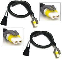 Extension Wire Ceramic 9005 HB3 Two Harness Head Light High Beam Heat Socket OE