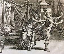 Nicolas CHAPRON ou CHAPERON 1612-1653 d'après RAPHAEL Joseph retenu XVIII