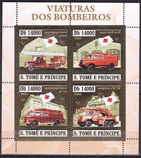 Sapeurs-Pompiers,superbe bloc de Sao-Tomé Et Principe neuf OR de 2006,neuf.