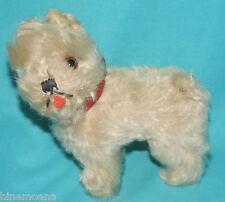 "Early white 5"" Steiff Schnauzer Tessie dog mohair excellent condition!"