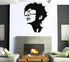 Hot Sexy Girl Sunglasses Beauty Salon Mural  Wall Art Decor Vinyl Sticker z620