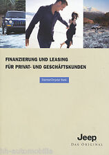 Jeep Finanzierung Leasing Prospekt 5/02 D brochure 2002 Auto PKWs Autoprospekt