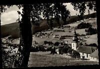 Warmensteinach Bayern Postkarte 1960 Fichtelgebirge Panorama Kirche Wald Wiesen