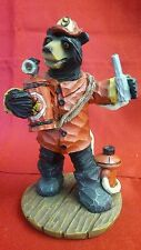 Black Bear Rescue Firefighter Station #9 Extinguisher Fireman Hydrant Figurine
