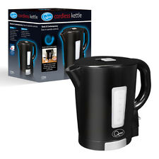 Quest Kitchen Worktop Black & Silver 2200w 1.7L LED Display Cordless Jug Kettle
