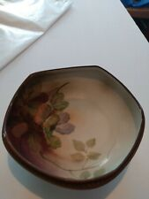 Vintage Nippon Hand Painted Footed Candy Nut Dish Peanuts Signed