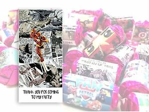 The Flash Mini Love Hearts Sweets Party Bag Fillers Kids Childrens DC Comics #15