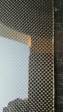 "Carbon Fiber Fiberglass Panel Sheet 12""×36""×1/16"" Glossy One Side Plain Weave"