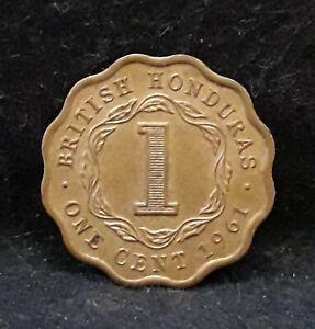 1961 British Honduras cent, Elizabeth II, aUNC/UNC, KM-30 (BH4)