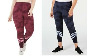 Ideology Plus Size Tie Dyed Leggings, MSRP $54
