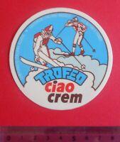 ADESIVO AUTOCOLLANT STICKER VINTAGE CIAO CREM ORIGINALE ANNI '80 8X8 cm.RARO