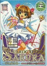 DVD Cardcaptor Sakura (TV Series + 2 Movies) DVD + Free Gift 1 Free Anime