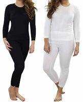 Ladies Thermal Long Sleeve Top Women Winter Shirts Warm Bottoms Size 10-24